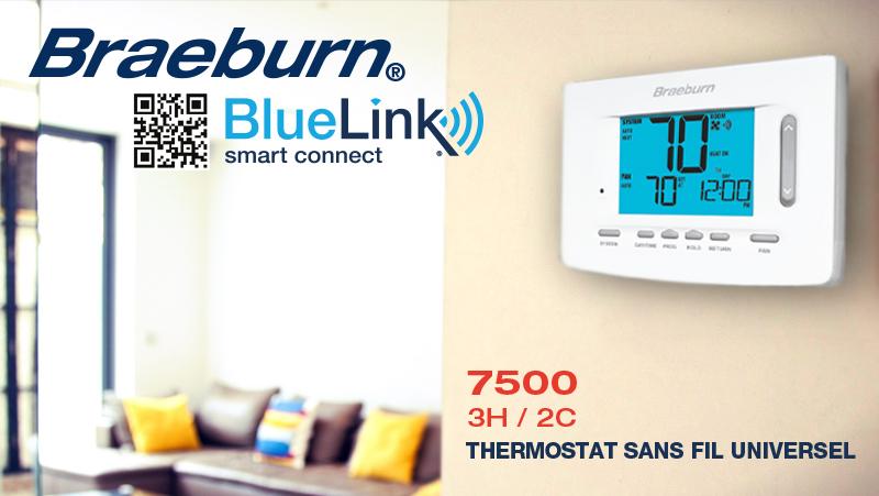 braeburn thermostats sans fil rblac distributeur hvac. Black Bedroom Furniture Sets. Home Design Ideas